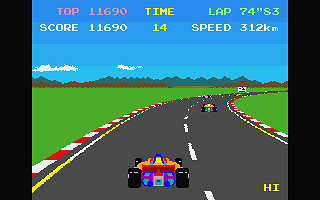 Pole Position atari screenshot
